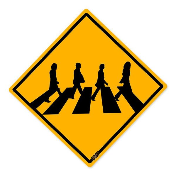 Placa Decorativa Beatles Crossing 30 x 30 cm