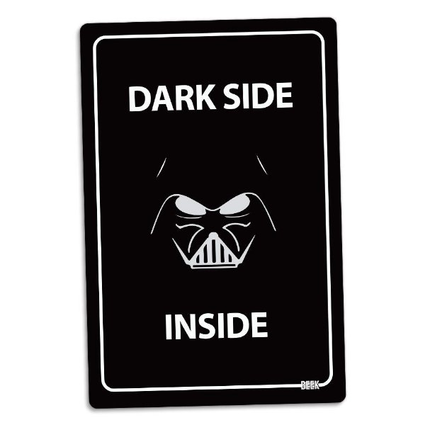 Placa Decorativa Star Wars Dark Side Inside 16 x 24 cm