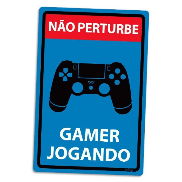 Placa Decorativa Gamer 16 x 24 cm - Escolha entre PS ou Xbox!