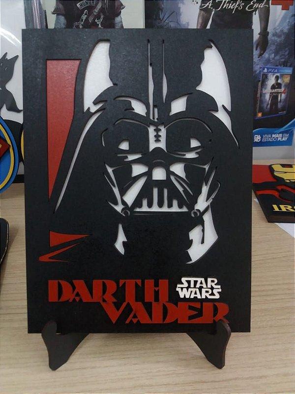 Retrato em MDF Star Wars Retrato em MDF Colorido Star Wars 15,0 x 20,0 cm - Escolha seu Personagem!