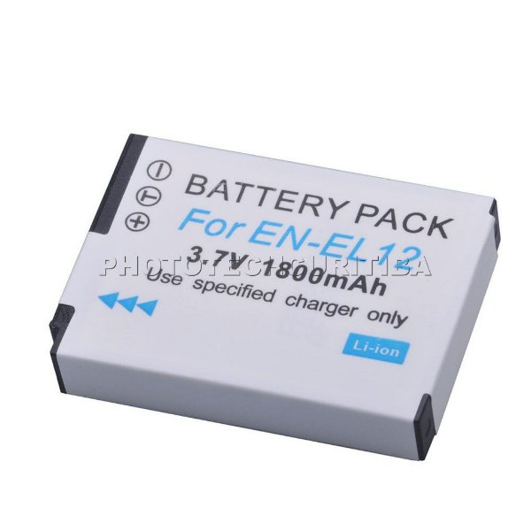 Bateria Nikon EN-EL12 DuraPro 1800mAh 3.7V