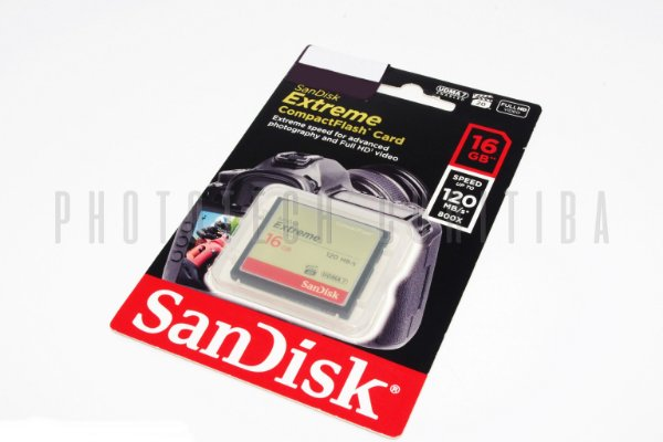 CARTÂO CF SANDISK EXTREME 16GB 120 MB/s