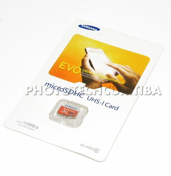 CARTÃO MICRO SD SAMSUNG 32GB CLASS 10 48 MB/s