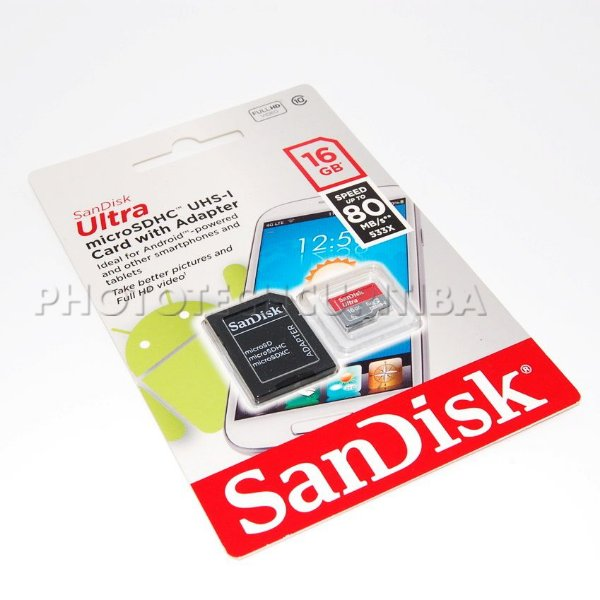 CARTÃO MICRO SD SANDISK ULTRA 16GB CLASS 10 80 MB/s