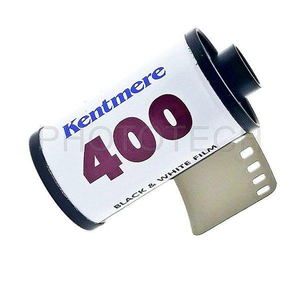 FILME FOTOGRÁFICO KENTMERE 36 POSES ISO 400 PRETO E BRANCO