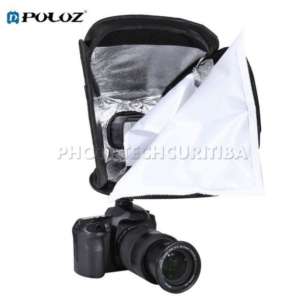 SOFTBOX 23x23 UNIVERSAL PARA FLASH DEDICADO SPEEDLIGHT E SPEEDLITE