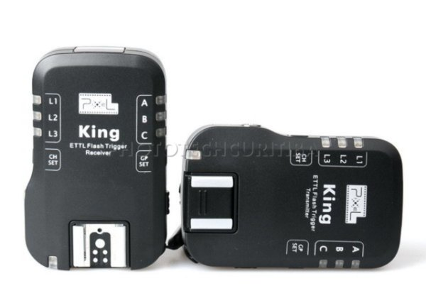 RADIO FLASH WIRELESS 7 CANAIS P/CANON PIXEL KING