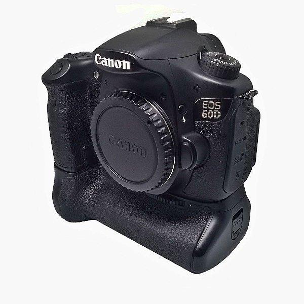 CÂMERA CANON EOS 60D COM GRIP