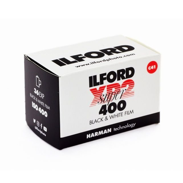 FILME FOTOGRÁFICO ILFORD 36 POSES ISO 400 XP2 C41 PRETO E BRANCO