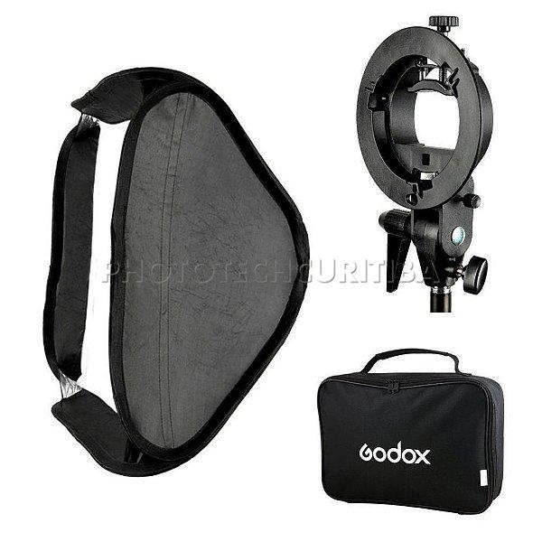 SOFTBOX GODOX 60x60 PARA FLASH DEDICADO S-TYPE BOWENS