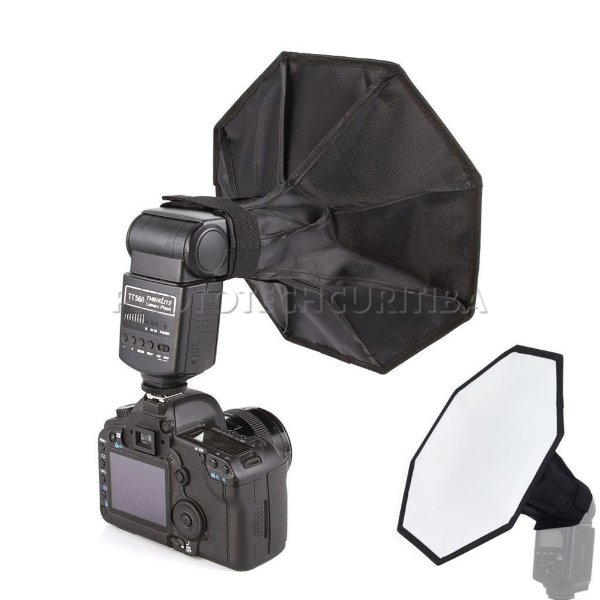 SOFTBOX OCTAGONAL 30cm PARA FLASH DEDICADO