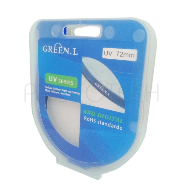 FILTRO UV 72mm GREEN.L
