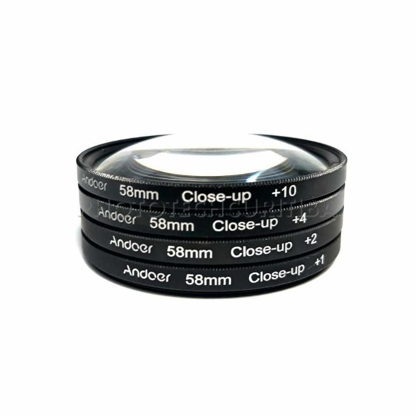 KIT FILTRO 58mm CLOSE-UP +1 +2 +4 +10 ANDOER
