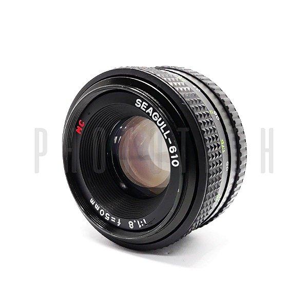OBJETIVA SEAGULL 50mm f/1.8