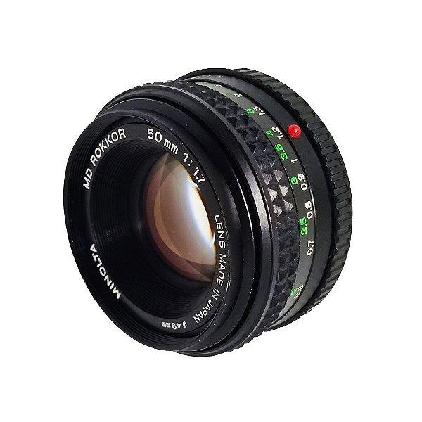 OBJETIVA MINOLTA 50mm f/1.7