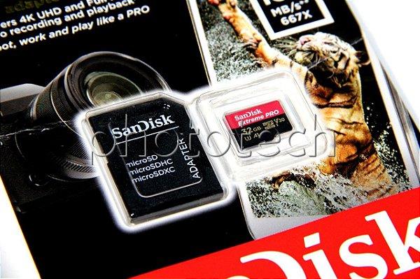 CARTÃO MICRO SD SANDISK EXTREME PRO 32GB CLASS 10 100MB/s MICROSDHC UHS-I 4K ORIGINAL