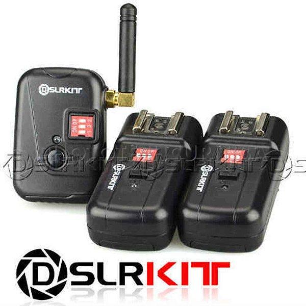 RADIO FLASH DSLRKIT PT-08XT 8 CANAIS 2 RECEPTORES