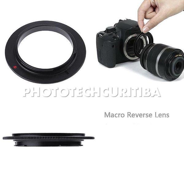 Anel Inversor Canon 49mm EOS-49mm Macrofotografia