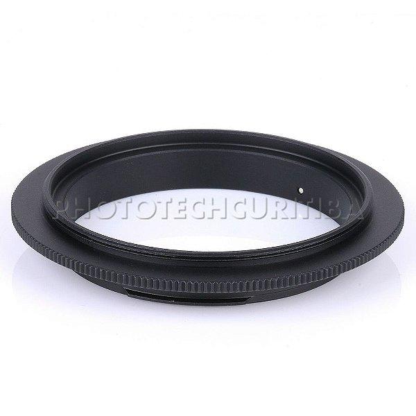 Anel Inversor Canon 55mm EOS-55mm Macrofotografia
