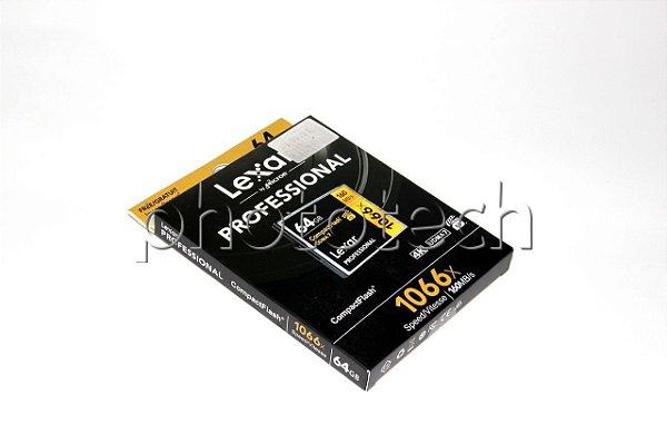 CARTÃO CF LEXAR PROFESSIONAL 64GB 1066 X 160 MB/S 4K