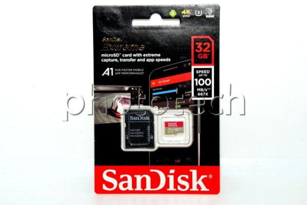 CARTÃO MICRO SD SANDISK EXTREME 32GB CLASS 10 100 MB/s MICROSDHC UHS-I 4K UHD ORIGINAL