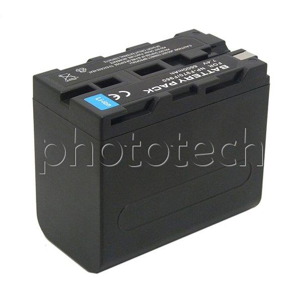 BATERIA SONY NP-F960 /F970 DIGITAL 6600mAh 7.4v PARA ILUMINADORES DE LED