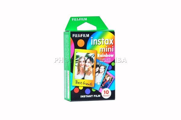 Filme Instax Mini 10 Fotos Rainbow ISO 800 FujiFilm Filme Instantâneo