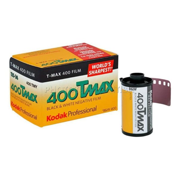 Filme Fotográfico Kodak 36 Poses Iso 400 T-Max PB Professional Black e White