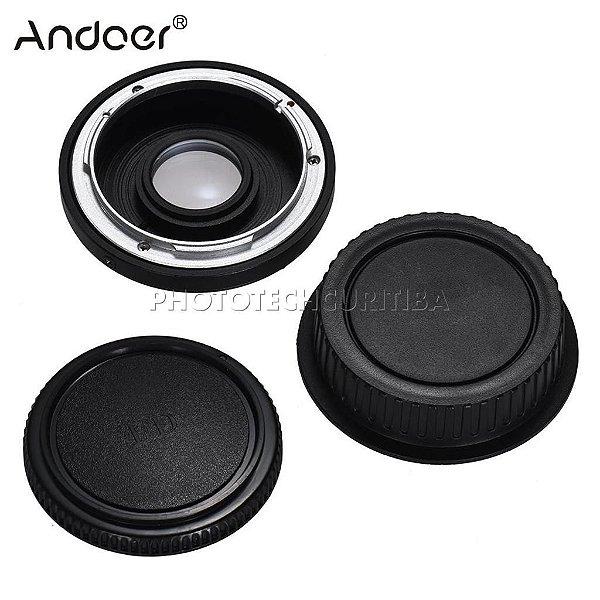 Adaptador De Lente Canon FD Para Canon EOS Com Elemento Ótico FD-EOS Andoer