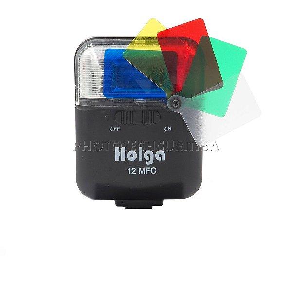 Flash Holga 12 MFC Com Filtros Coloridos