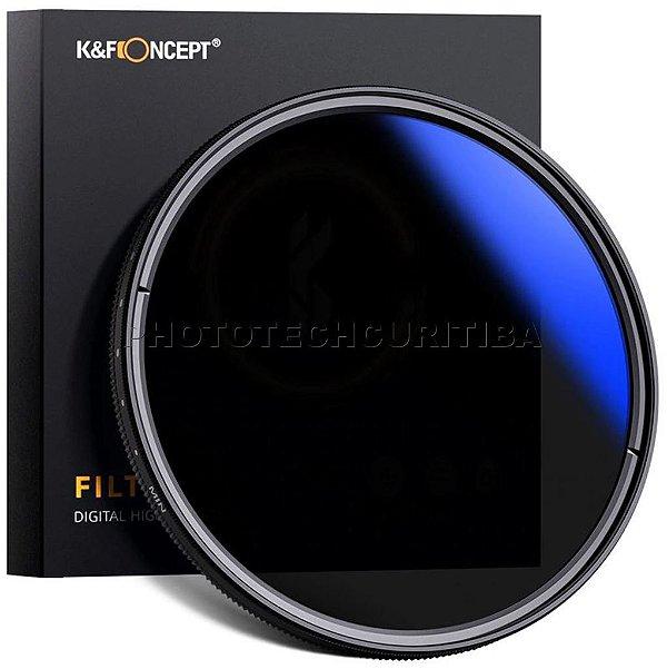 Filtro ND Variável 49mm K&F Concept Densidade Neutra 2-400 KF01-1385