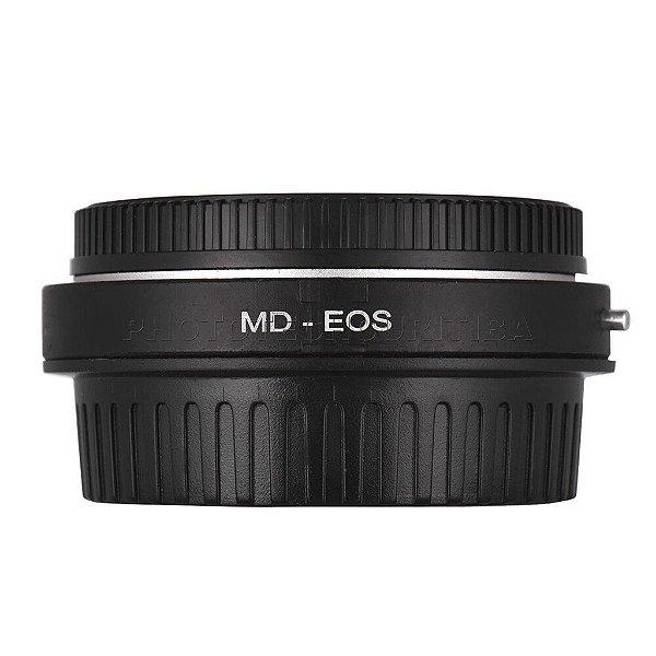 Adaptador de Lente Minolta Para Canon Com Elemento Ótico MD-EOS Andoer