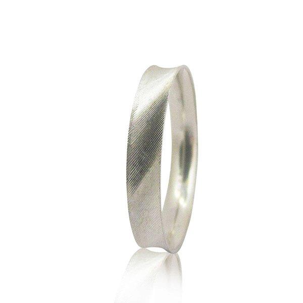 Par de Aliança de Compromisso (Prata) 4mm fosqueado