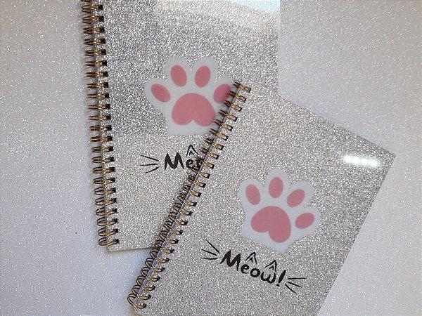 Caderno Agenda Patinha Glitter
