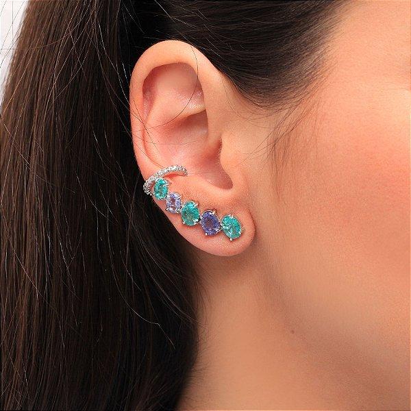 Brinco Piercing com Gotas Colors