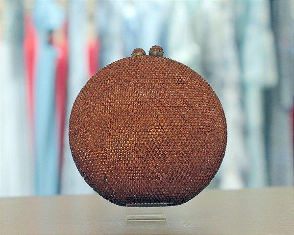 Clutch Redonda de Cristais Isla Bolsas - Bronze