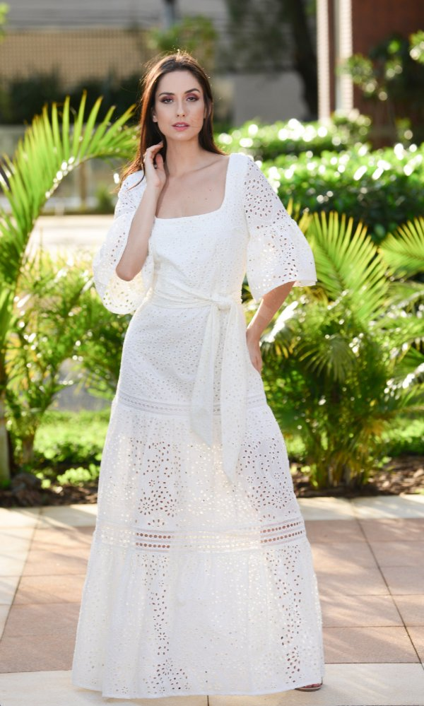 Vestido Midi Laise Amanda - Amíssima