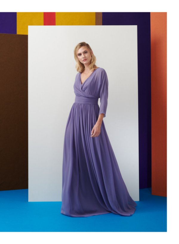 Vestido Longo Simone Liso - Maracujá Brand