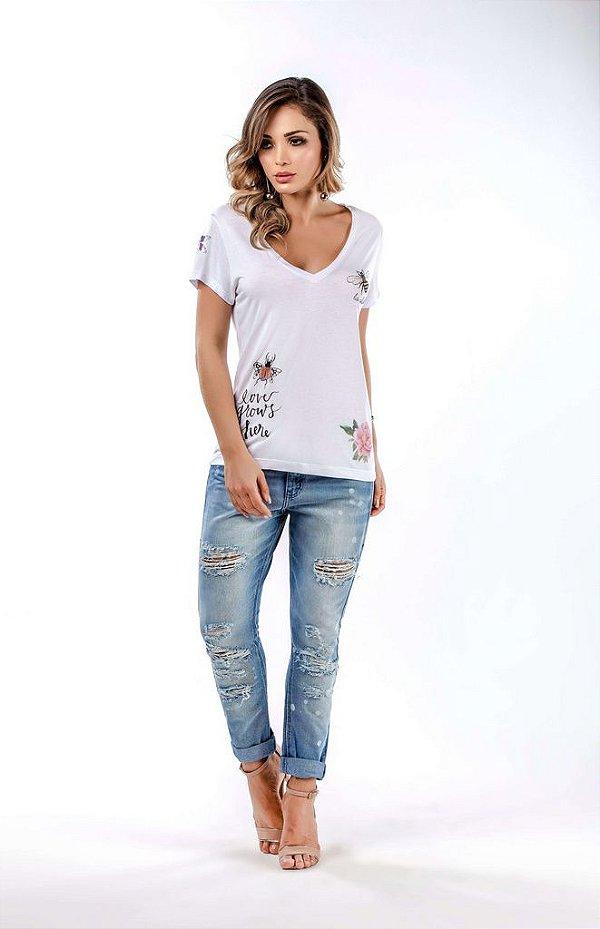 efe285ff6 T-shirt com estampa Carol - Philomene