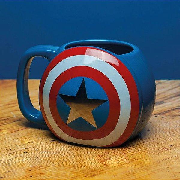 Caneca Capitão America 3D - Marvel