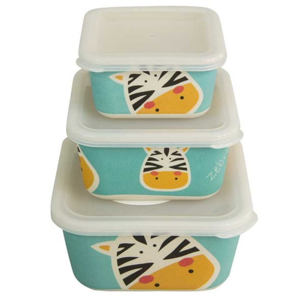Kit 3 Potes Ecológicos – Zebra