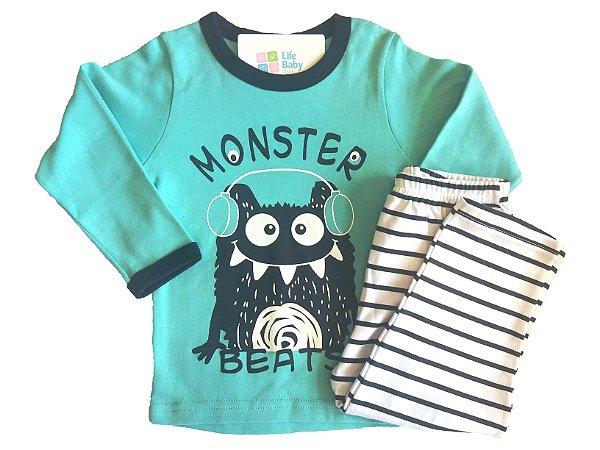 Pijama Comprido Monster Beats