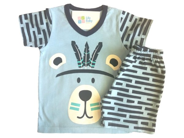 Pijama Curto Indian Bear
