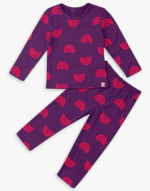 Pijama Comprido Arco Roxo