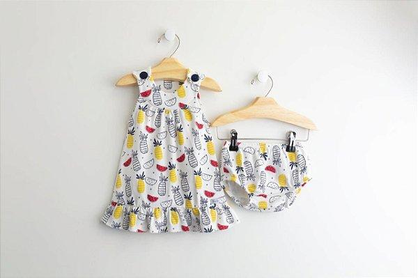 Vestido Tropical - 2 peças