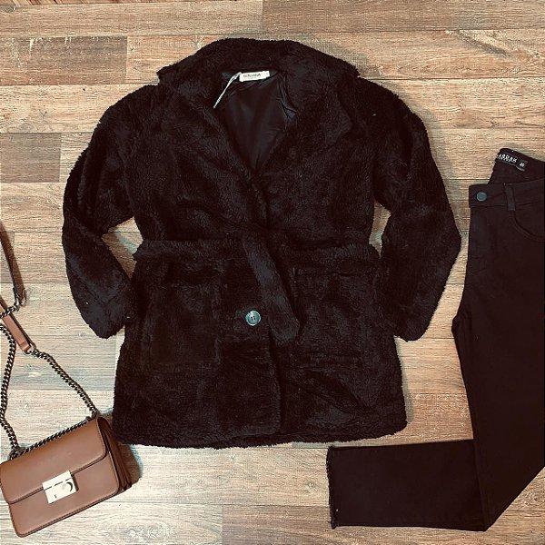 Casaco de Pelo Rute Black