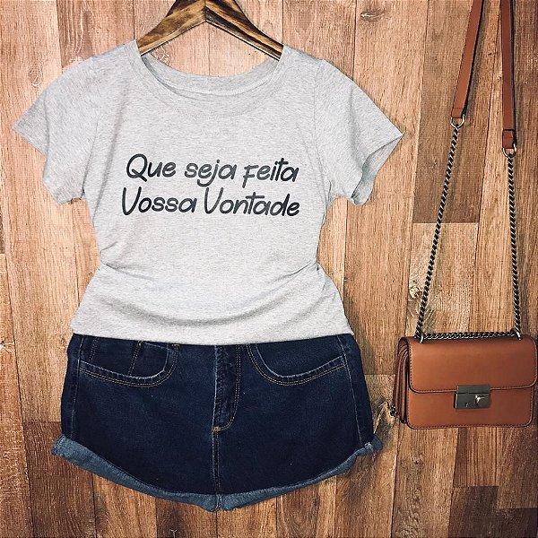 T-shirt Que seja feita vossa vontade