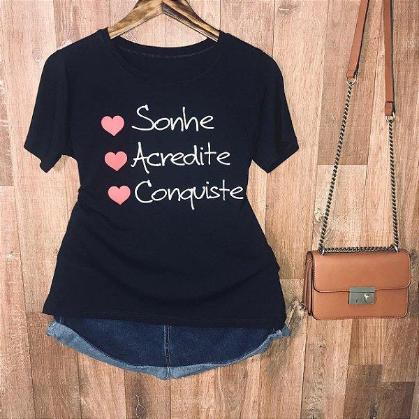 Camiseta S2 Sonhe Acredite Conquiste