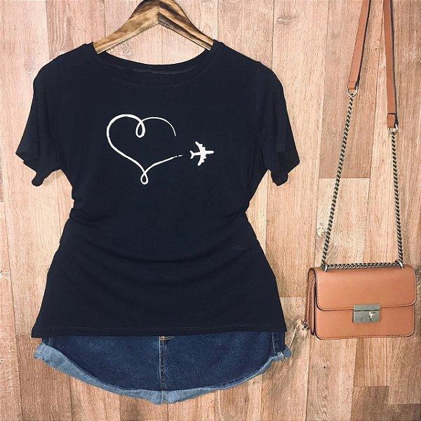 Camiseta Airplane Heart