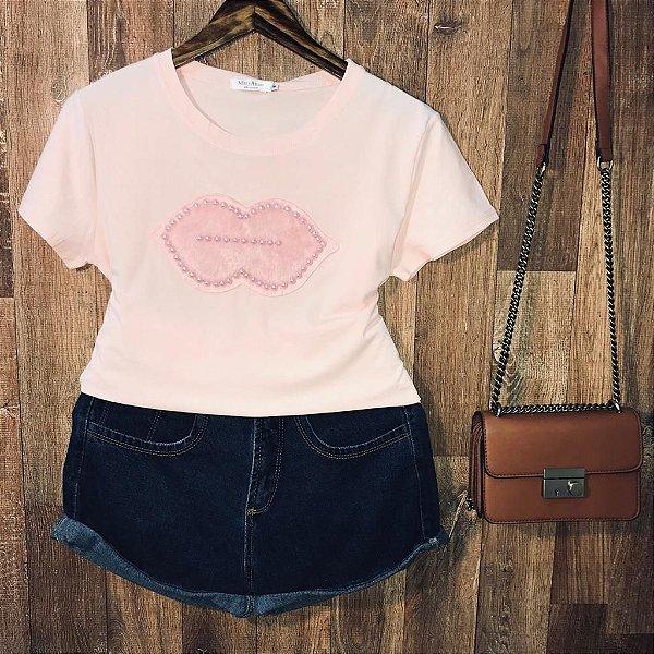 T-shirt Top Boca Rosê
